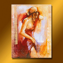 Newest Handmade Beautiful Lady Oil Painting For Decor