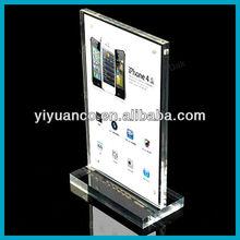 Acrylic magnetic menu holder