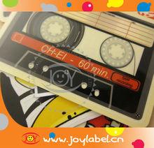 Music Tape Transparent Sticker