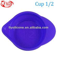125ml Volume, Folding Kitchen Silicone Measuring Cup, Purple, FDA & LFGB approved