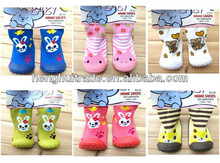 wholesale 2013 hot sell new style baby skidders sock shoes soft rubber sole baby shoe sock