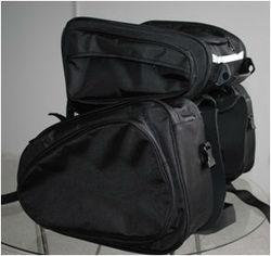 Motorcycle Saddle Bag with Tail Bag