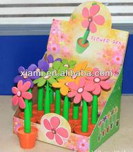 plastic flower pen for promotional