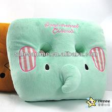 Wholesale High Quality Anime Cute Cartoon Soft Warm sentimental circus green elephant Pillow Cushion