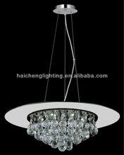 DC30177D/14L Black Glass Modern LED chandelier