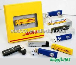 Promo truck shape usb memory, truck usb flash disk