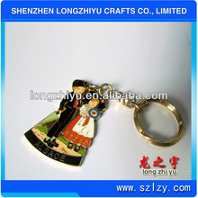 2013 Custom metal lovers keychain For Valentine's Promotion