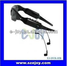 Hot sale EJ-DVR-32B mini hd Sunglasses mp3 player with hidden camera