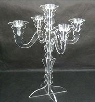 Modern design Acrylic Table candelabras