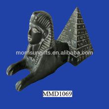 Egyptian Resin Sphinx Hieroglyphic Pyramid