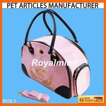 B038-2 velvet pet carrier for dogs