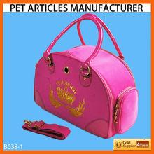 B038-3 velvet pet carrier for dogs