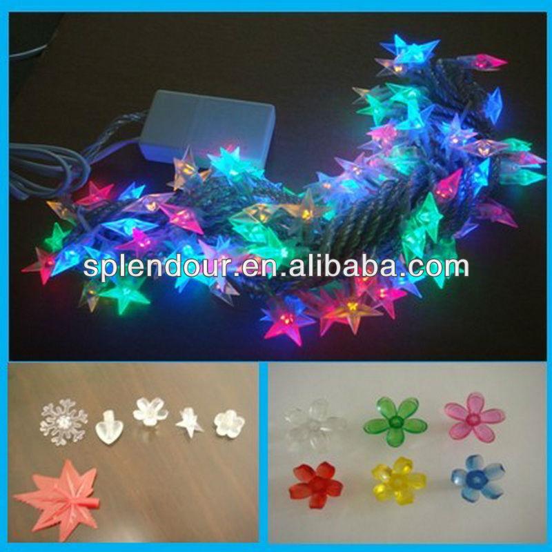 RGB color changing LED STAR string light/LED star garland