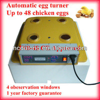 CE approved family type hold 48 chicken eggs incubatrice