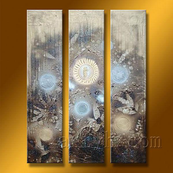 el más nuevo hecho a mano pinturas tríptico de arte para la ...