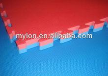 Certified with EN 71 and SGS.double color eva interlocking floor mat