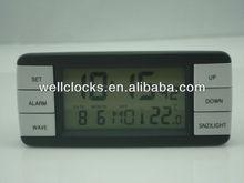 hot sale 2013!!! multi-function LED light Radio controlled clock