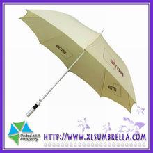 Aluminum shaft,wooden handle, promotional straight umbrella