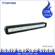 "Cree chip 20"" 120 watt single row led light bar all black housing"