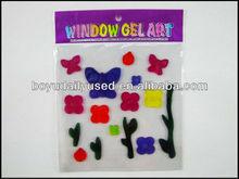 Flowers Window Gel Art Sticker / Decor Sticker / Jellies Sticker
