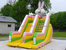 Inflatable Bunny dry slide made in China B4005
