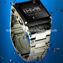 2012 new arrival wholesale Water-proof Watch Phone: Stainless Steel Waterproof Watch Mobile Phone, Grade IP67, watches men