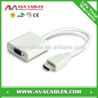 Full HD 1080P HDMI to VGA adapter cable converter with charging and audio