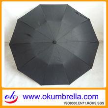 2012 Hot Sell Black Europe Market Umbrella, Europe UmbrellaOKF132