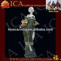 Pedra escultura de arte, mármore estátua v, figura jardim, estátua de pedra rla0061