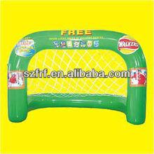 pvc inflatable football goal/ inflatable basketball goal