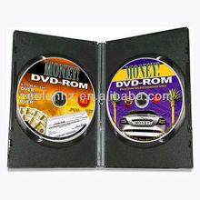 Standard 14mm black DVD case for holding 2 discs