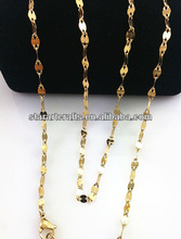 SN055 Fashion design high quality keep color for long time gold plated necklace