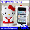 For iPhone4 3D Hello Kitty silicon case