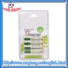 4Pcs 1350mAh 1.2V Rechargeables Batteries Ni-MH AAA