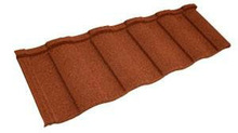 aluzinc stone granule coated steel roof tile
