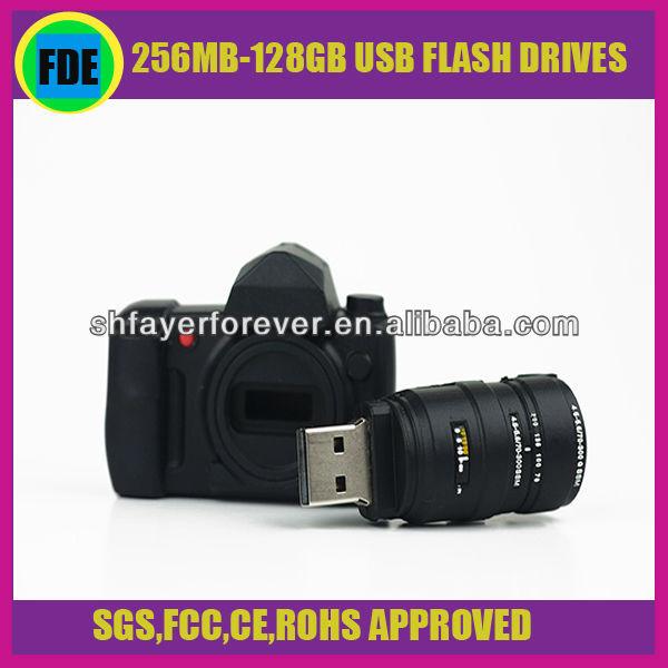 2013 Innovative Design Custom 256MB-128GB Cute PVC Material Camera Shape USB Flash Drive