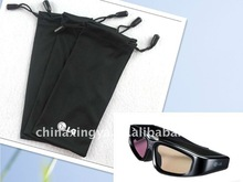 soft microfiber customized printing doubled drawstring light soft sunglasses and 3d glasses pouches