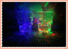 Light up skull drinking glass
