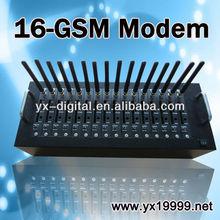 rj45 port interface usb modem GSM modem wavecom 16ports bulk SMS MMS EDGE/sms receiving software