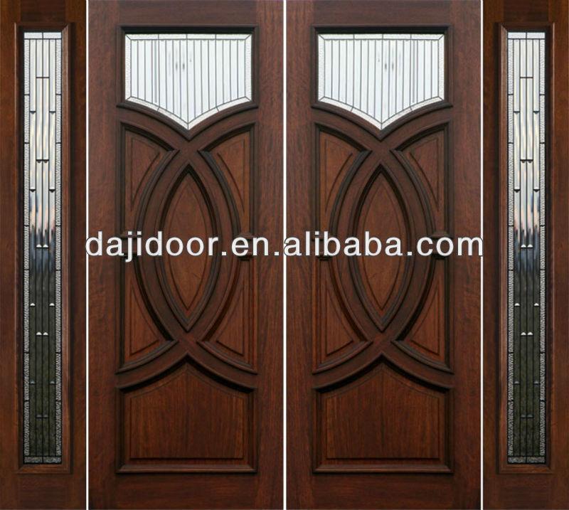 2013 latest design exterior wood door pictures dj s9852mst for Latest wooden front door designs
