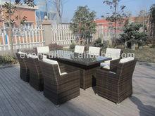 garden dining set rattan patio furniture