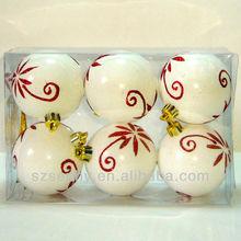 Christmas ball ornament,white christmas balls