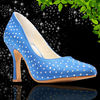 Blue Bridal Wedding Rhinestone Shoes