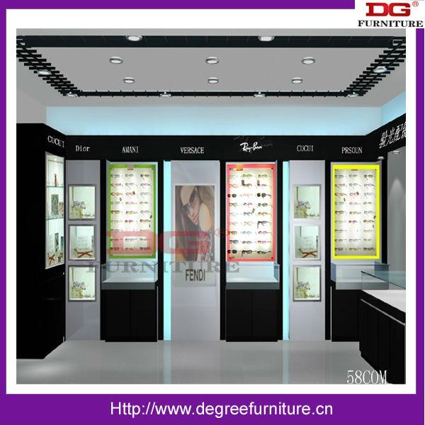 Optical shop decoration design view shop decoration for A t design decoration co ltd