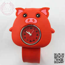 Qute mini pig silicone Watch for kids