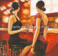 Ladies at the bar painting