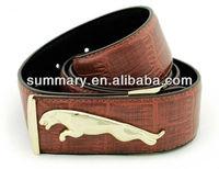 Panther leather men belt