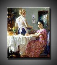 handmade family oil paintings on canvas