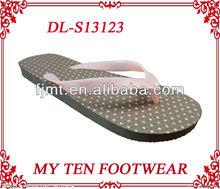 Pink Dot Women Beach Flip Flop 2012 Hot Sell