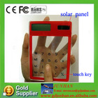 touch screen transparent solar calculator